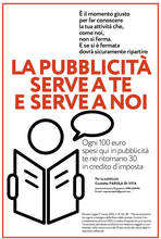 LA PUBBLICITÀ SERVE A TE E SERVE A NOI