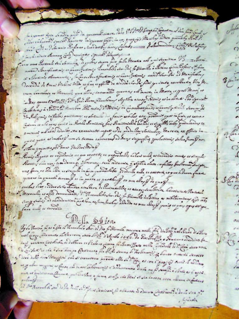 Ritrovato un antico processo di beatificazione di Sant'Umile da Bisignano